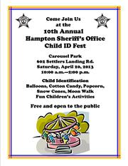 10th Annual Hampton Sherriff's Office Child ID Fest