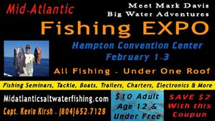 Hampton roads convention center hampton roads convention for Saltwater fishing expo